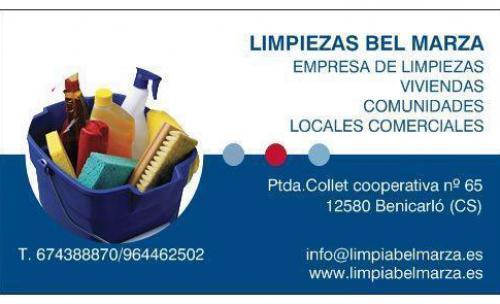 Limpiezas ben fet benicarl castell n 12580 for Empresas de limpieza en castellon